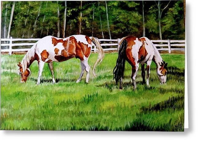 Paint The Fields Greeting Card by Crystal  Harris-Donnelly