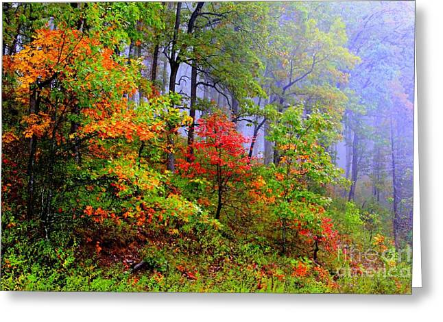 Painted Autumn Greeting Card by Carolyn Wright