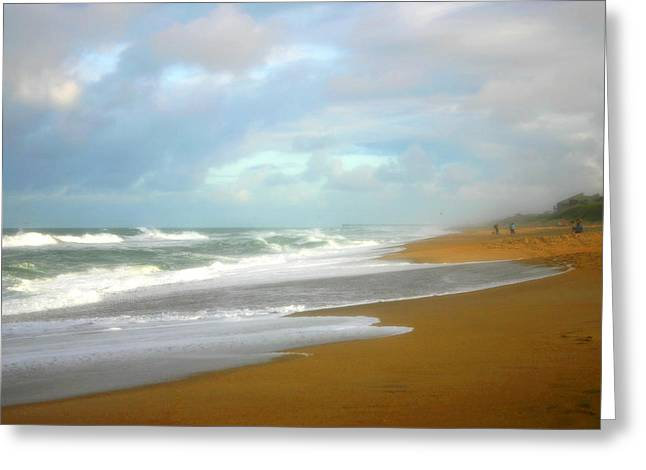 Greeting Card featuring the photograph Painted Beach by Cindy Haggerty