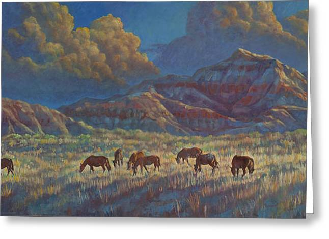 Painted Desert Painted Horses Greeting Card