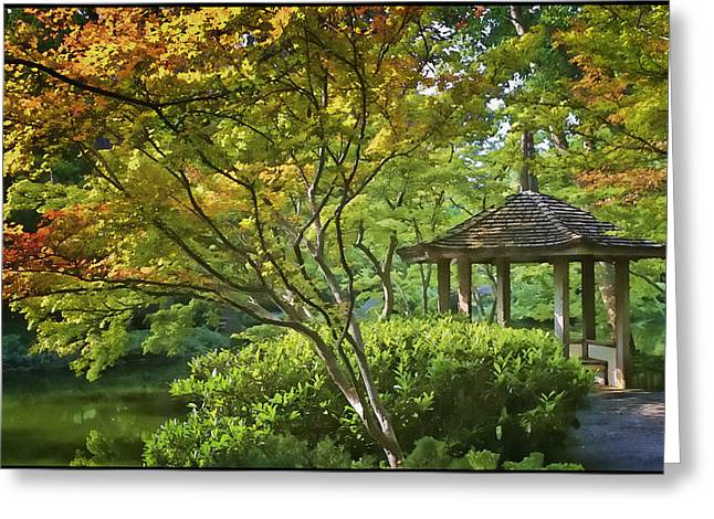 Painted Gardens Greeting Card