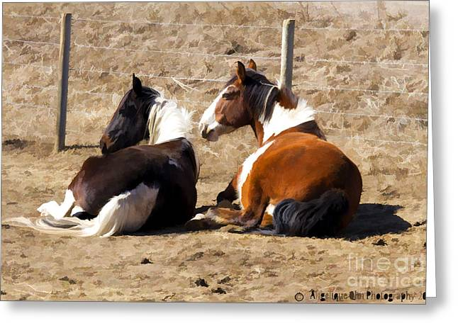 Painted Horses I Greeting Card