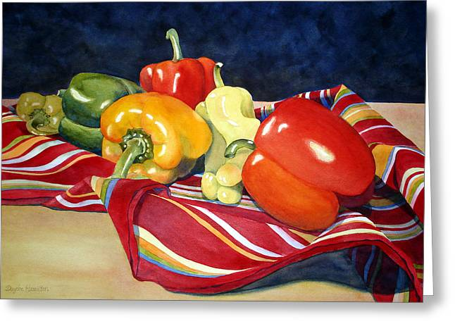 Painted Peppers Greeting Card