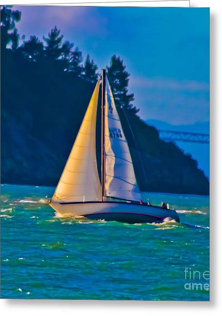Painted Sails Greeting Card