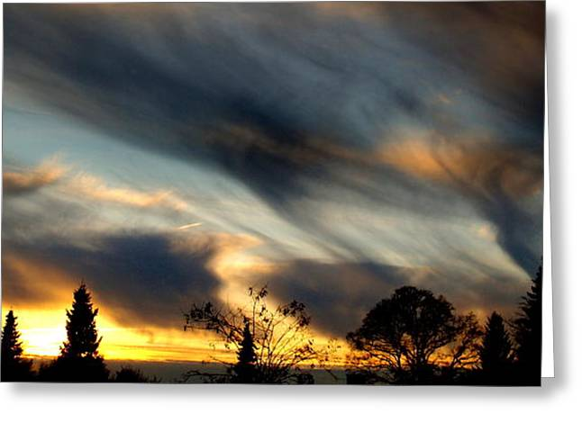 Painted Sky Over Denmark Greeting Card by Michael Canning