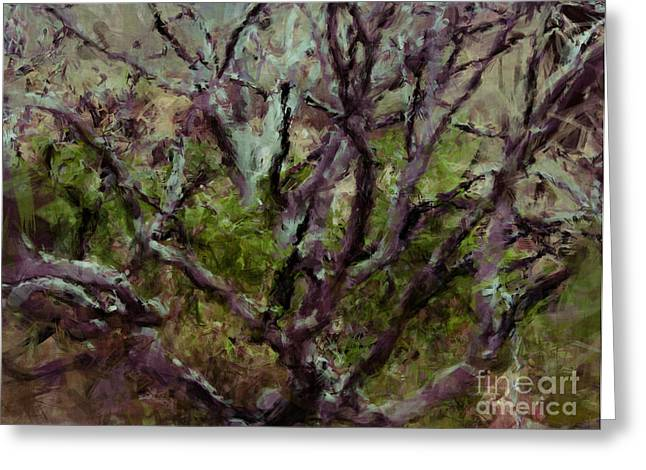 Painted Tree Greeting Card by Julie Lueders