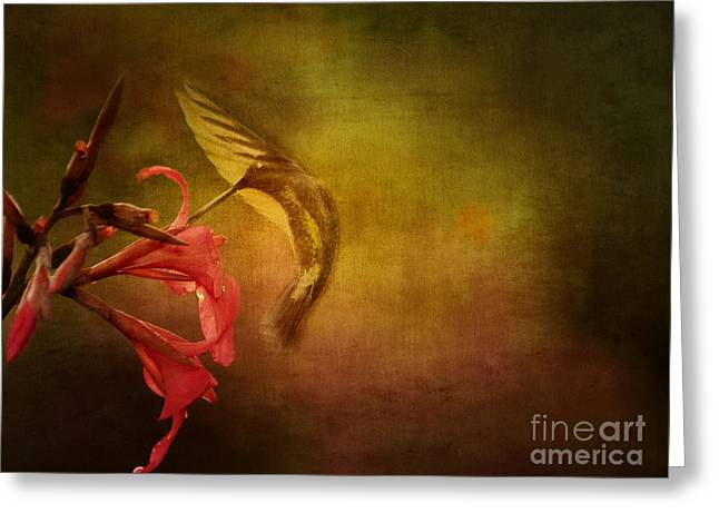 Painterly Ballet Greeting Card by Anne Rodkin