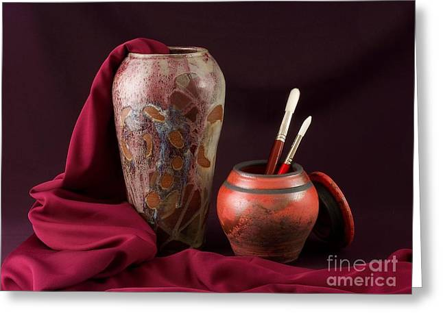 Painterly Pots Greeting Card