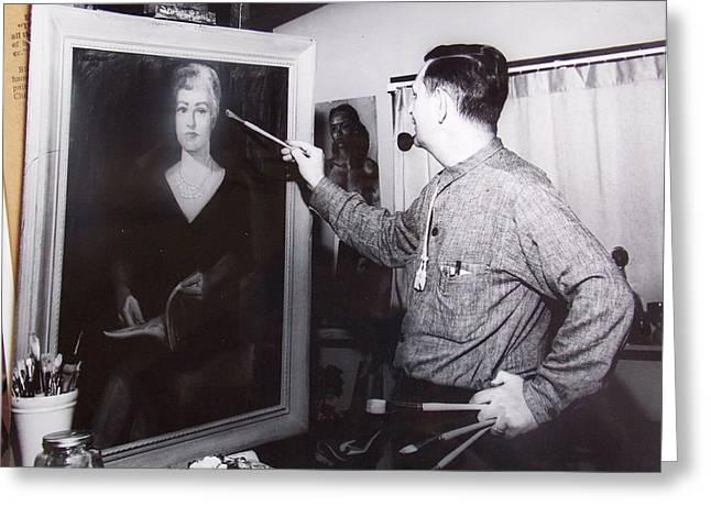 Painting A Portrait Greeting Card by Bill Joseph  Markowski