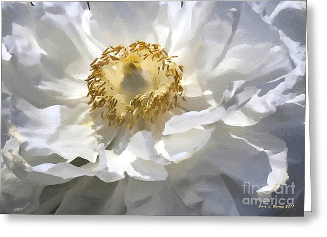 Painting Of A White Flower Greeting Card by Jerry L Barrett