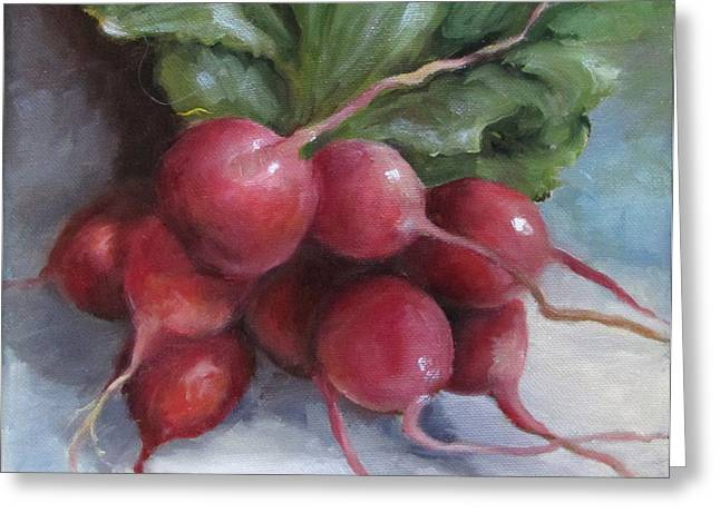 Painting Of Radishes Greeting Card