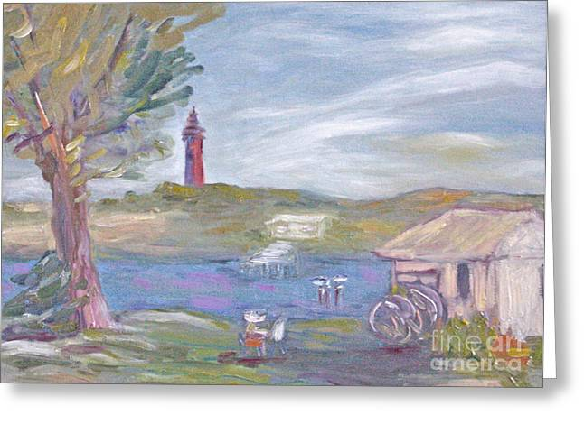 Painting Plein Air By The River Greeting Card