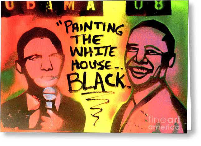 Painting The White House Black Greeting Card by Tony B Conscious