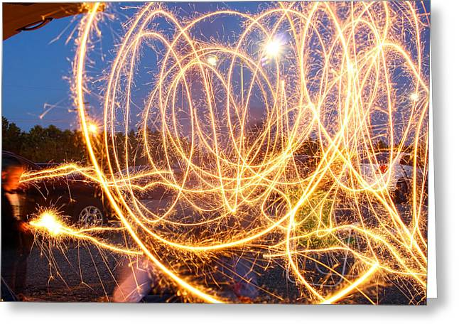 Painting With Sparklers Greeting Card by Gordon Dean II