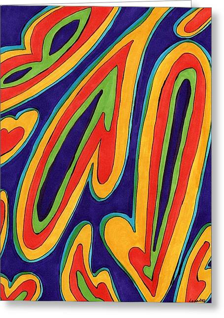 Paisley Pill IIi Greeting Card by Lesa Weller
