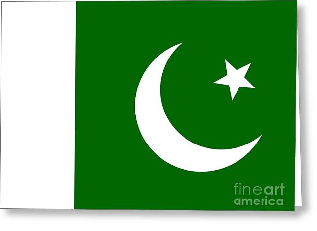 Pakistan Flag Greeting Card by Steev Stamford
