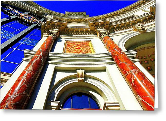 Greeting Card featuring the photograph Palace Entrance IIi by Linda Edgecomb