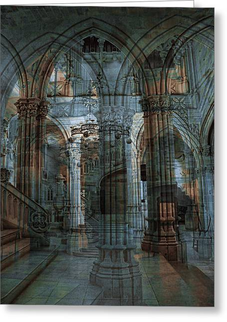 Palace Hall Greeting Card by Angel Jesus De la Fuente
