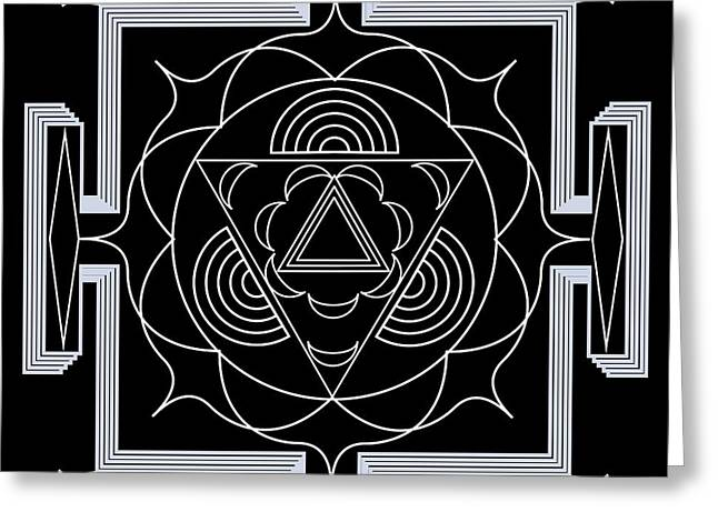 Greeting Card featuring the digital art Palace Hypnosis by Mario Carini