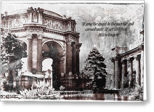 Palace Of Fine Arts Rotunda Greeting Card