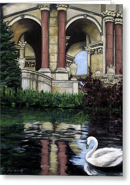 Palace Swan Greeting Card by Lisa Reinhardt