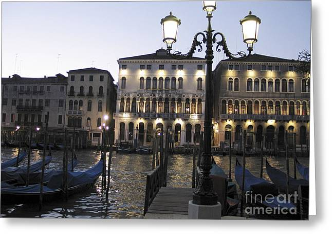 Palace. Venice Greeting Card by Bernard Jaubert