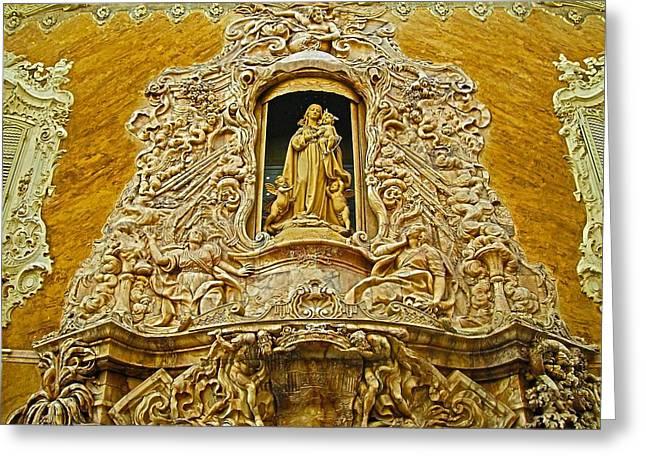 Palacio Del Marques De Dos Aguas - Valencia Greeting Card by Juergen Weiss