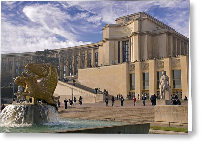 Greeting Card featuring the photograph Palais De Chaillot by Rod Jones