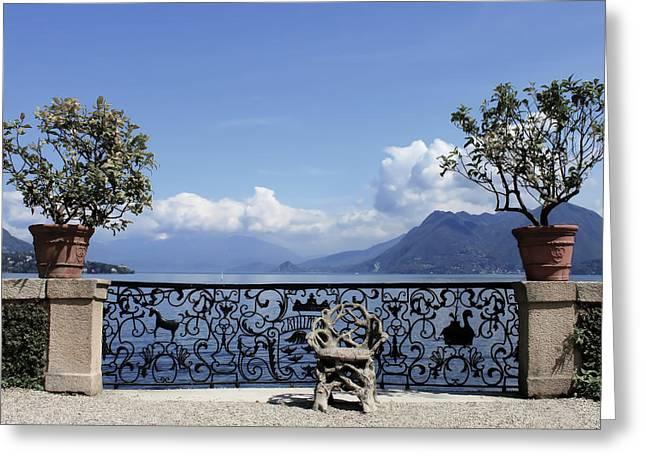 Palazzo Borromeo - Isola Bella Greeting Card by Joana Kruse