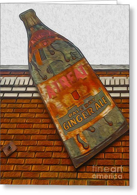 Pale Dry Ginger Ale Sign Greeting Card