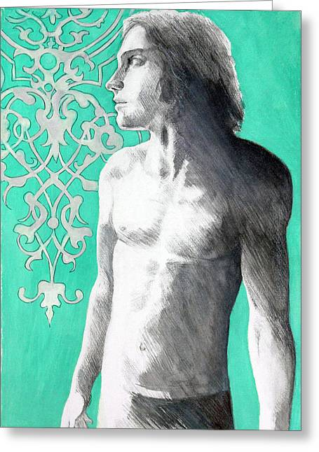 Dorian Gray Greeting Card by Rene Capone