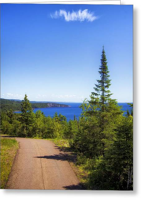 Palisade Head - Tettegouche State Park Greeting Card by Bill Tiepelman