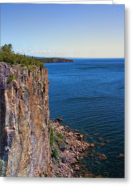 Palisade Head Cliffs Greeting Card by Bill Tiepelman