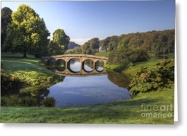 Palladian Bridge At Stourhead. Greeting Card