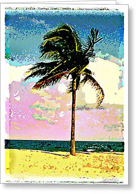 Palm One Greeting Card by Linda Olsen