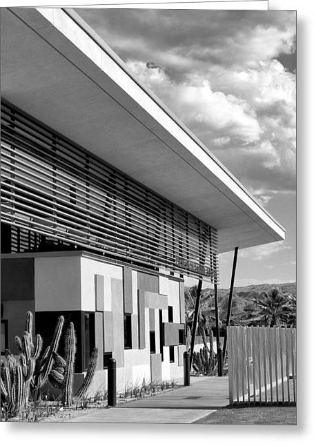 Palm Springs Animal Shelter Bw Palm Springs Greeting Card by William Dey