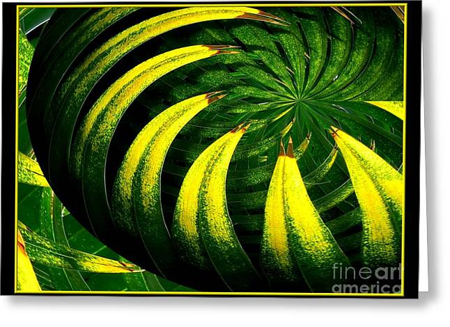 Palm Tree Abstract Greeting Card by Rose Santuci-Sofranko