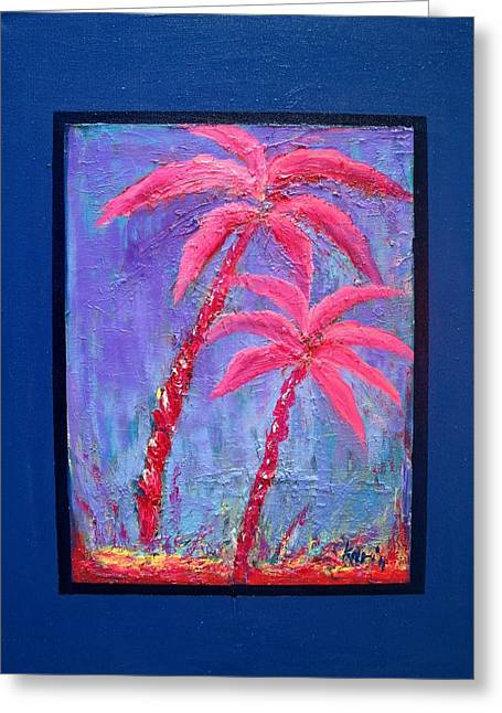 Palm Tree Series 14 Greeting Card by Karin Eisermann
