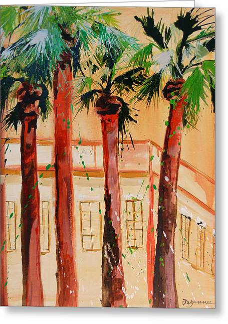 Palm Trees Greeting Card by Suzanne Willis