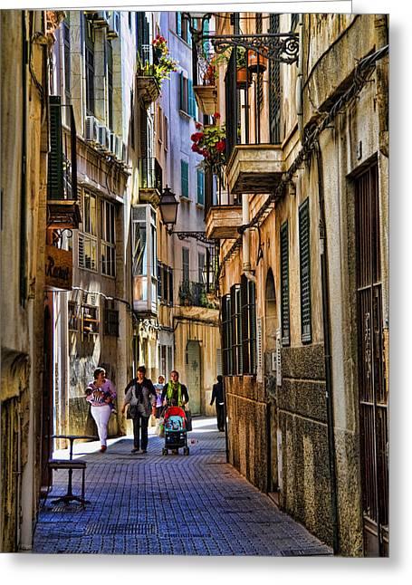 Palma Mallorca Street Scene Greeting Card by David Smith