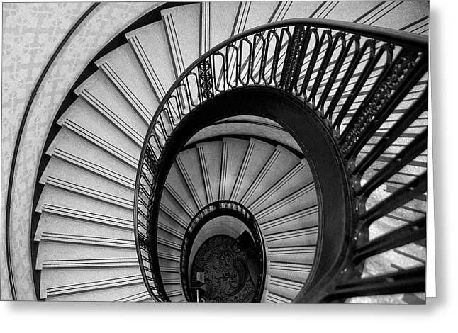Palmer House Staircase Greeting Card by Sheryl Thomas