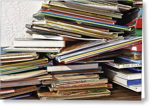 Stacks Framed Prints Greeting Cards - Palmettoflorida Usa Childrens Books Greeting Card by Skip Nall