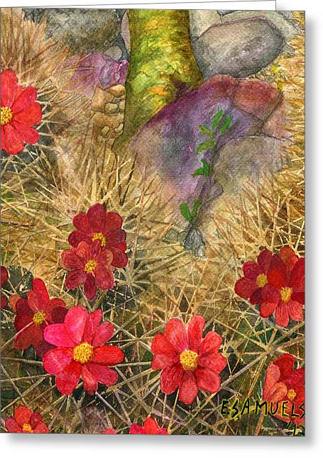 Palo Verde 'mong The Hedgehogs Greeting Card
