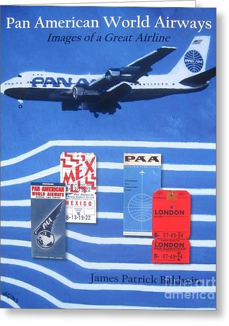 Pan American World Airways Greeting Card by Lesley Giles
