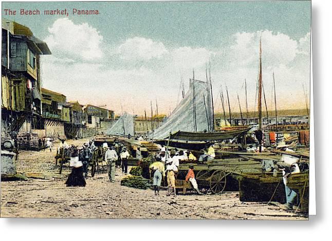 Panama City: Beach Market Greeting Card by Granger