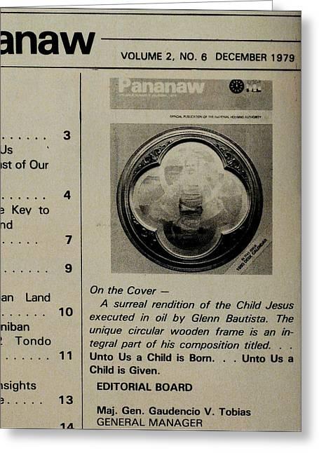 Pananaw 1979 Greeting Card by Glenn Bautista