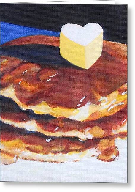 Pancakes Greeting Card by Sarah Vandenbusch