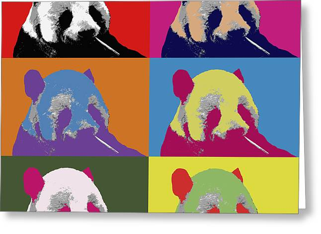 Panda Pop Art 2 Greeting Card