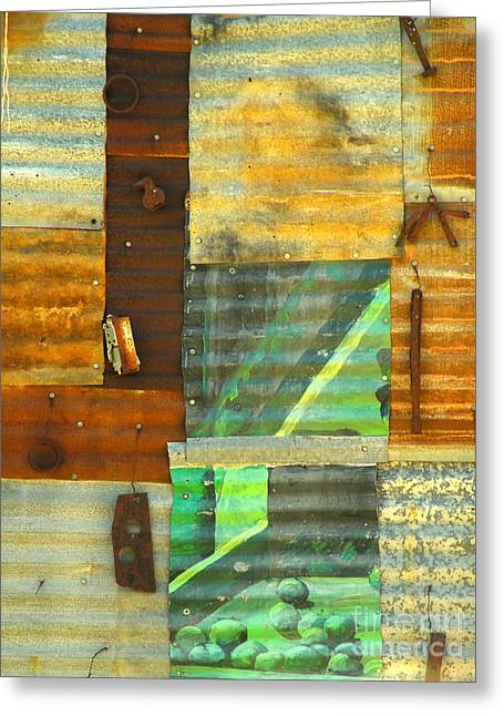 Panel With Peas Greeting Card by Joe Jake Pratt
