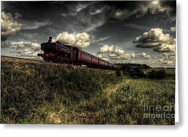 Pannier Tank On The North Norfolk Greeting Card by Rob Hawkins